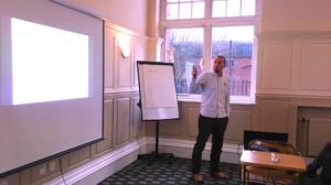 Fil McIntyre giving a presentation