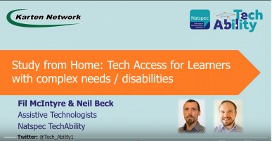 Tech access for learners with complex needs / disabilities