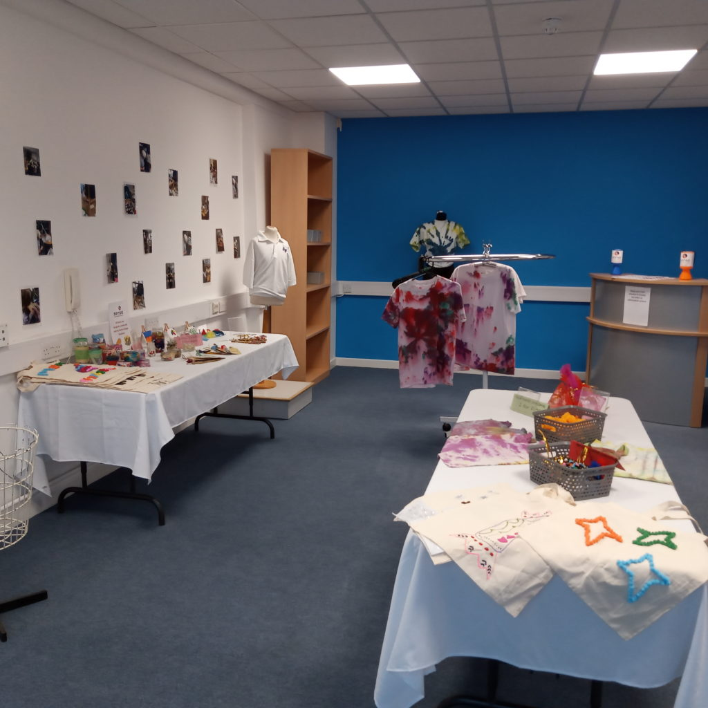 Small enterprise facilities displaying the products produced by sense college