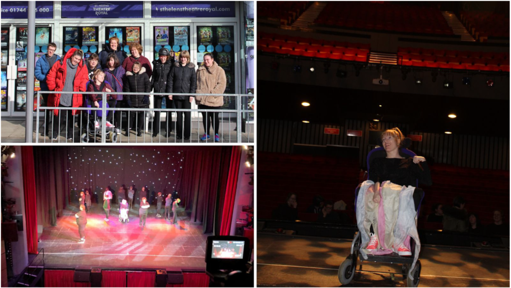 A Drama performance being filmed at the Theatre Royal St Helens.
