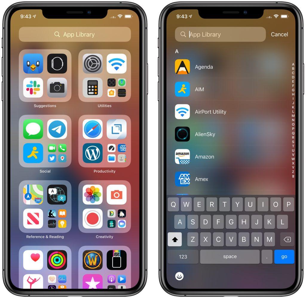 iOS App library
