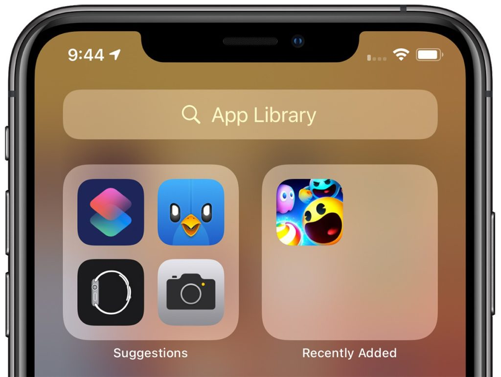 iOS 14, app library suggestions