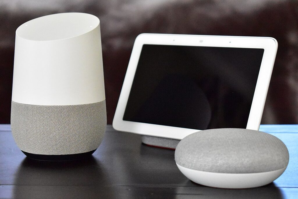 Example og Google home devices