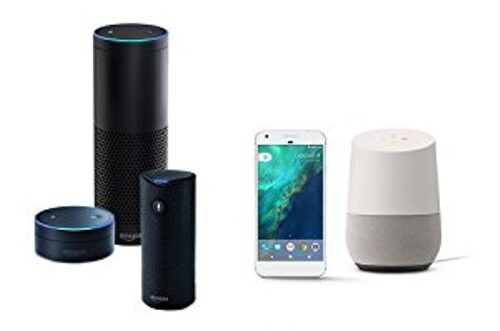 Intelligent virtual assistant Alexa and Google